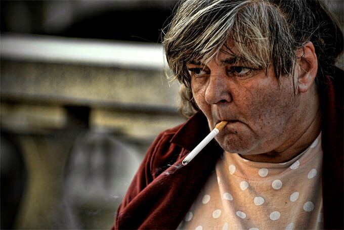 HOMELESS SMOKERS